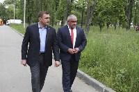 В Ясногорске Алексей Дюмин поручил привести в порядок городской парк, Фото: 12