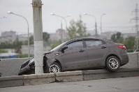 """""""Киа"""" врезалась в столб на Пролетарском мосту, Фото: 3"""