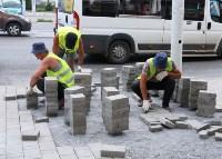 На ул. Советской меняют тротуарную плитку, Фото: 8