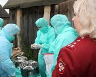 Сотрудники МЧС и Роспотребнадзора учились ликвидировать очаг сибирской язвы, Фото: 3
