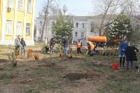 3200 кустов и деревьев высадили сегодня в Туле в ходе субботника, Фото: 9