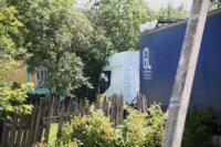 В Барсуках фура влетела в огород и сломала дерево, Фото: 2
