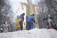 В ЦПКиО сожгли чучело зимы, Фото: 21