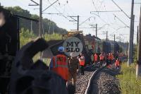 В Тульской области грузовой поезд сошел с рельсов, Фото: 44