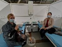 В Туле сотрудники МЧС эвакуировали госпитали госпиталь для больных коронавирусом, Фото: 68
