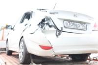 Возле поста ДПС в Плавске столкнулись три иномарки и фура, Фото: 1