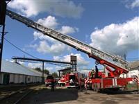 Пожар на хлебоприемном предприятии в Плавске., Фото: 35