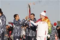 Второй этап эстафеты олимпийского огня: Зареченский район, Фото: 24