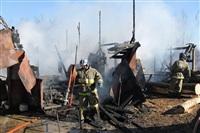 Пожар в цехе производства гробов на Веневском шоссе в Туле, Фото: 3