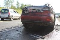 В жутком ДТП на М2 под Тулой сгорели три авто: двое погибли, Фото: 8