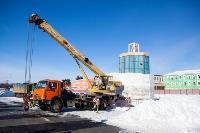 Огромный снеговик на Казанской набережной, Фото: 1