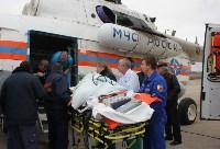 Транспортировка пострадавшего санитарным рейсом МЧС, Фото: 6