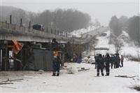 ДТП с участием «Газели» мосту через реку Воронку. 13 февраля 2014, Фото: 1