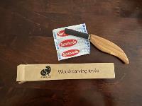 В комплекте с ножом для резьбы по дереву идут пластыри, Фото: 6
