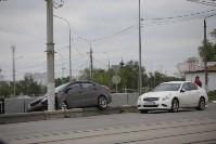 """""""Киа"""" врезалась в столб на Пролетарском мосту, Фото: 5"""