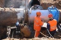 Как ведется монтаж водовода, питающего водой Пролетарский округ Тулы. Фото, Фото: 19