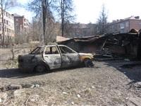 Сгоревшие сараи на улице Немцова в Туле, Фото: 1
