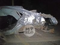 Крупное ДТП на ул. Металлургов в Туле: Nissan снес столб, пассажирку вышвырнуло из машины, Фото: 7