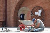 Груздев оценивает ход реставрации в Кремле. 22.06.2015, Фото: 3