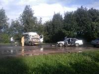 На Орловском шоссе столкнулись «Дэу» и микроавтобус, Фото: 1