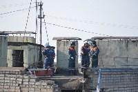 У дома, поврежденного взрывом в Ясногорске, демонтировали опасный угол стены, Фото: 43