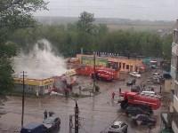 В Ясногорске сгорел продуктовый магазин. 16 мая 2015, Фото: 10