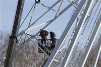 Монтаж колеса обозрения в ЦПКиО. 25 февраля 2014, Фото: 9