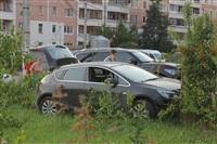 """В Туле """"Opel"""" перелетел бордюр и протаранил припаркованный """"Infiniti"""", Фото: 10"""