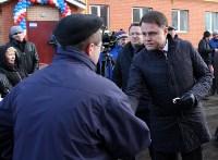 Кимовские новоселы получили ключи из рук губернатора Владимира Груздева, Фото: 11