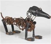 Скульптуры собак из велосипедных цепей, Фото: 4