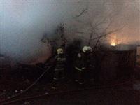 В Пролетарском районе сгорел дом, Фото: 1