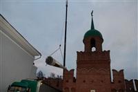Утром 15 ноября в Тулу привезли шпиль для колокольни Успенского собора, Фото: 2