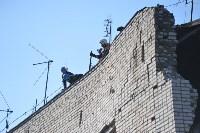 У дома, поврежденного взрывом в Ясногорске, демонтировали опасный угол стены, Фото: 29