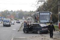 В Криволучье трамвай протаранил легковушку, Фото: 4