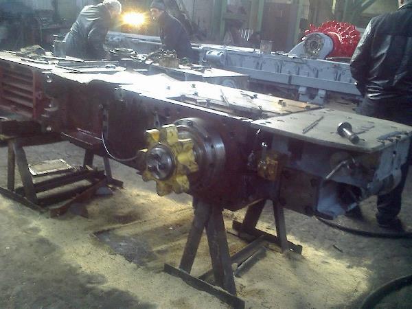 Ремонт подающей части 1Г405 комбайна 1К101У с реечной подачей.