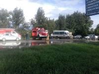 На Орловском шоссе столкнулись «Дэу» и микроавтобус, Фото: 2