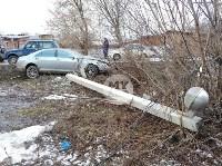 В Туле Mercedes повалил фонарный столб, Фото: 12