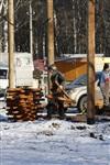 Монтаж колеса обозрения в ЦПКиО. 25 февраля 2014, Фото: 4