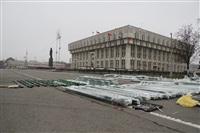 Сборка новогодней елки на площади Ленина, Фото: 8