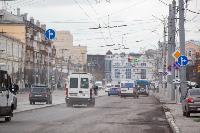 На ул. Советской в Туле убрали дорожные ограждения с трамвайных путей, Фото: 3