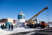 Огромный снеговик на Казанской набережной, Фото: 2