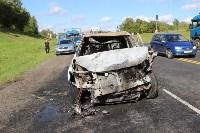 В жутком ДТП на М2 под Тулой сгорели три авто: двое погибли, Фото: 9