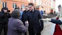 Кимовские новоселы получили ключи из рук губернатора Владимира Груздева, Фото: 6