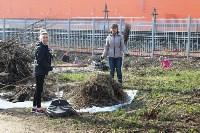 Генеральную уборку в Туле на Пролетарской набережной провели работники КБП, Фото: 23