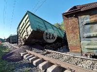 В Тульской области грузовой поезд сошел с рельсов, Фото: 25