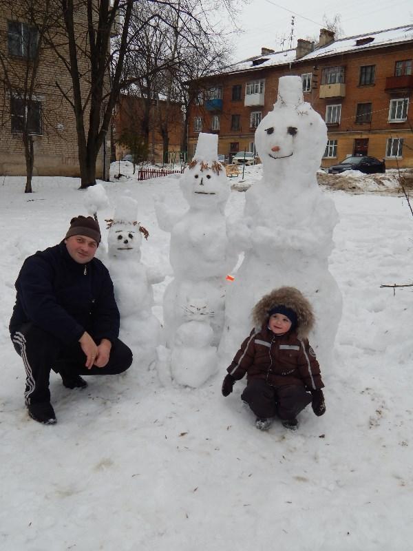 В гостях у семьи Снеговиковых.