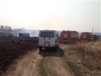В Ленинском районе из-за горящей травы сгорела дача, Фото: 4