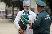 Учения МЧС: В Тульской областной больнице из-за пожара эвакуировали больных и персонал, Фото: 21