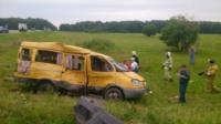 Авария на трассе Тула-Калуга. 04.07.2014, Фото: 1