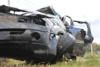 Возле поста ДПС в Плавске столкнулись три иномарки и фура, Фото: 5